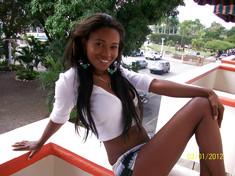 Cute African erotic model