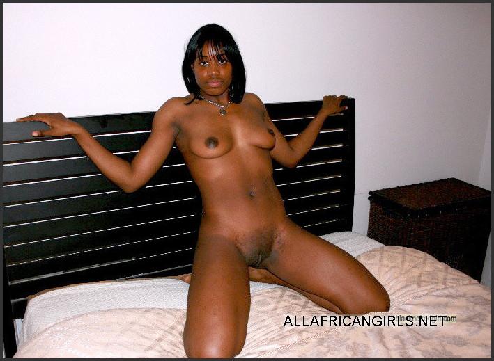 Black wife posing nude