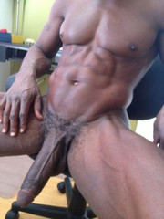 Huge naked black penis